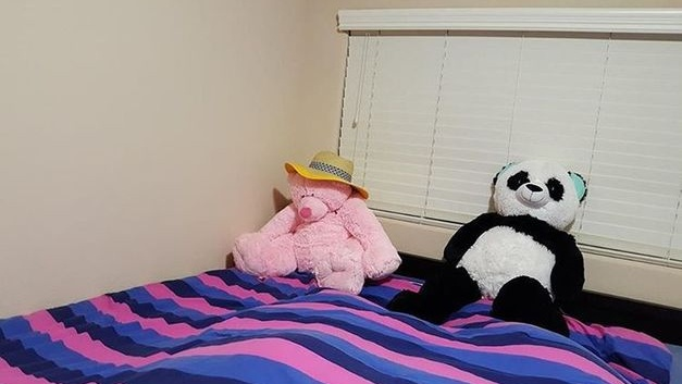 worst mls photos teddy bear and panda on bed
