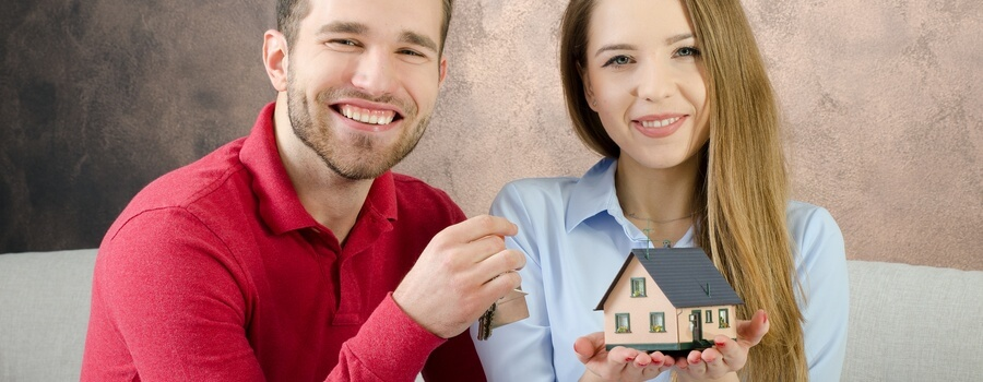 young couple buying first home
