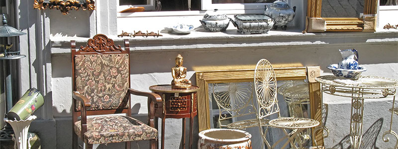 Furniture in front of store